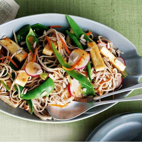 Soba noodle, tofu & vegetable salad with miso dressing | Meat Free ...
