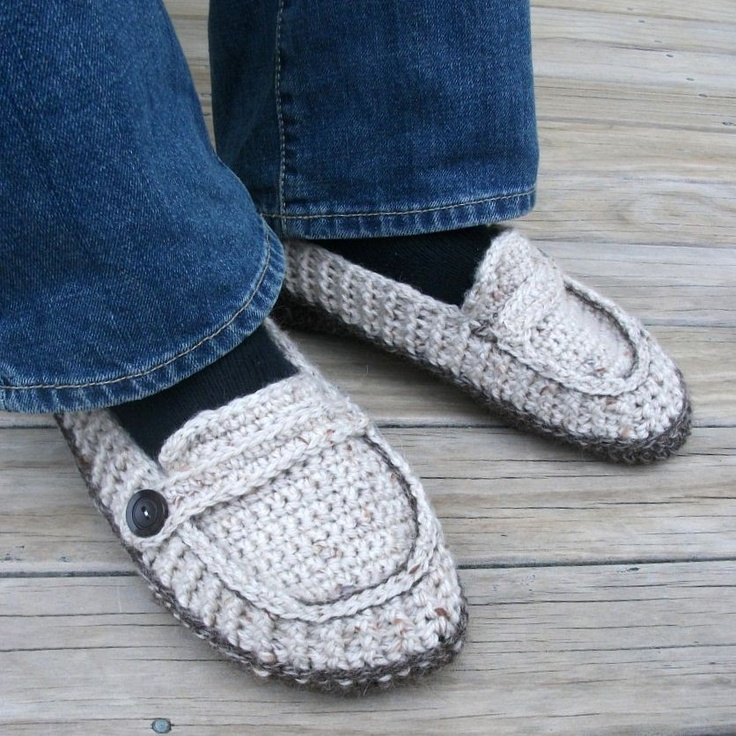 Free Crochet Pattern For Vans Slippers : Download Now - CROCHET PATTERN Modern Mens Loafers ...