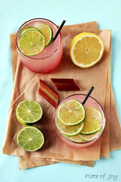 ginger infused simple syrup fresh lemon and lime juice rose water i d ...