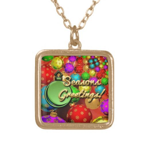 Floating holiday ornaments necklaces 23 95