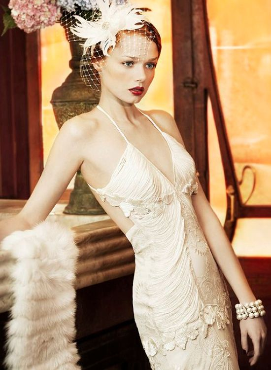 1920 39 s inspired wedding dress weddings pinterest