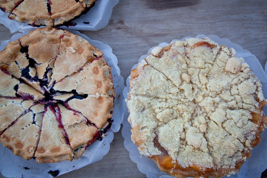 Blueberry Rhubarb Sour Cream Pie | Recipe