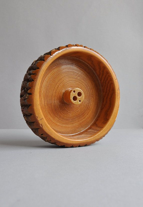 Vintage wood log nut bowl smoky mountains by mistertrue on etsy 24