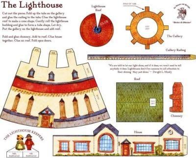 Photobucket gift ideas pinterest for 3d paper lighthouse template