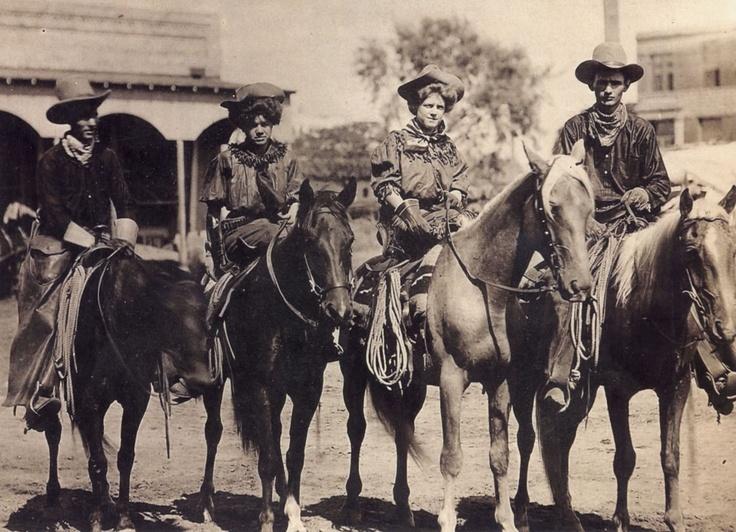 Cow Girls, Downtown Christoval, Texas, Circa 1900.