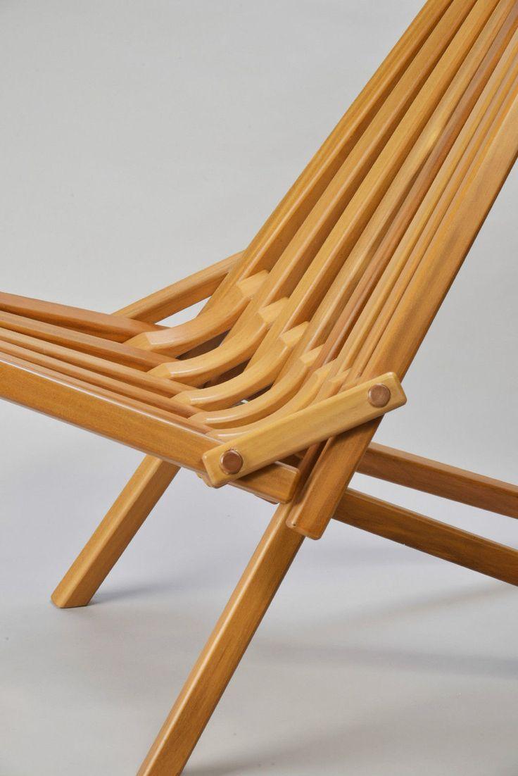 Gorgeous Mid Century Danish Modern Teak Wood Folding Chair