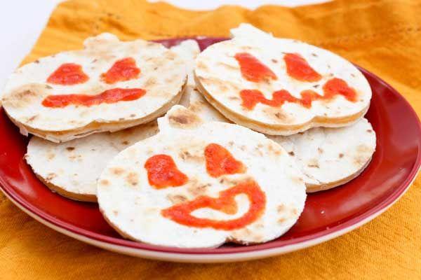 Halloween Pumpkin Quesadillas for Kids | Crafty Ideas | Pinterest