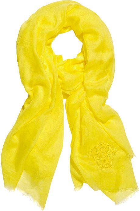 Sunny yellow scarf
