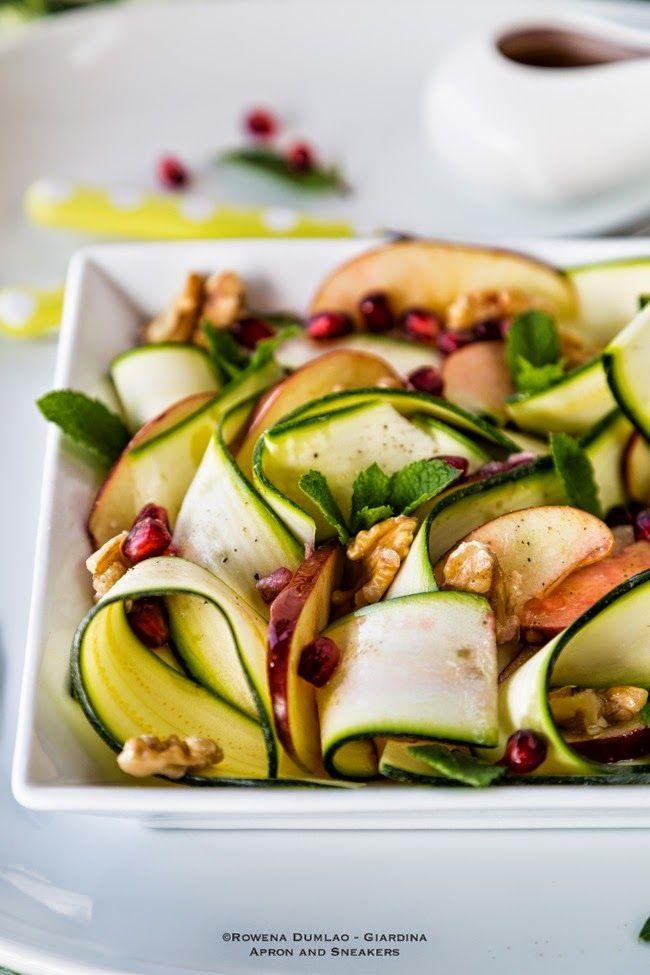 ... Beyond: Raw Zucchini, Apple and Walnut Salad with Pomegranate Dressing