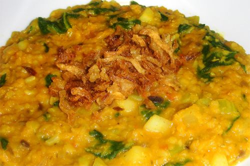 Red Lentils With Cumin And Fried Onions Recipe — Dishmaps