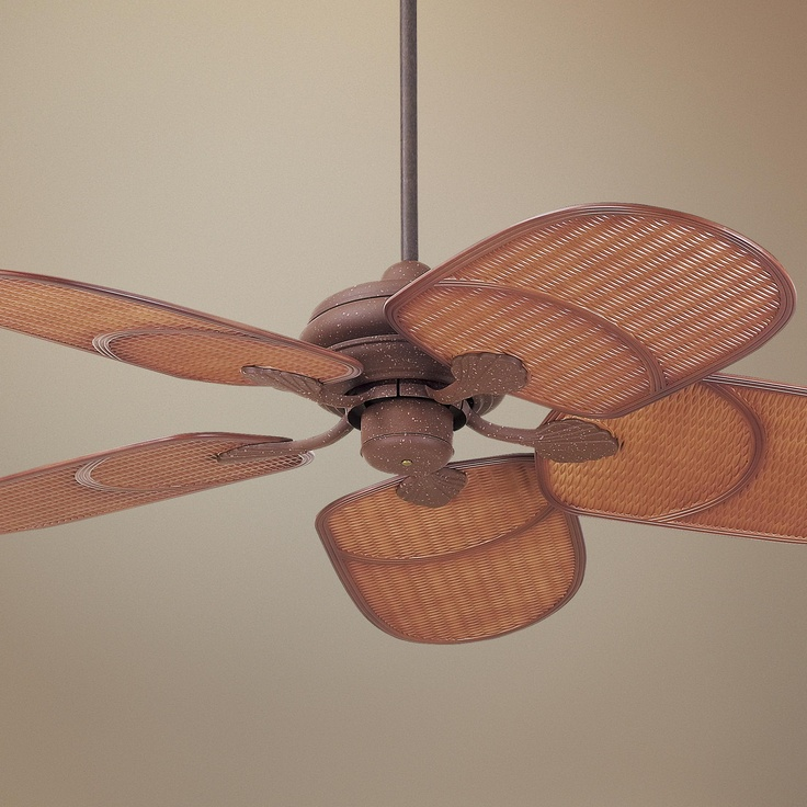 "Tropical Outdoor Ceiling Fan: 42"" Casa Vieja® Outdoor Tropical Ceiling Fan"