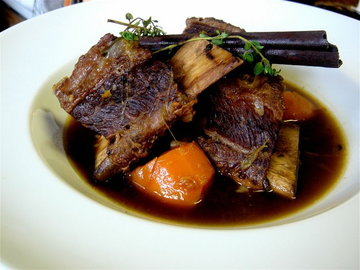 Guinness-Braised Beef Short Ribs with leeks, onions, & carrots ...