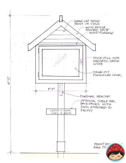 Plans magnetic latch little free library pinterest for Build a house online free