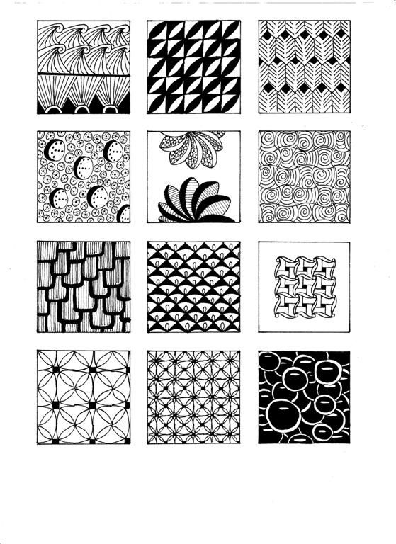 .zentangle patterns