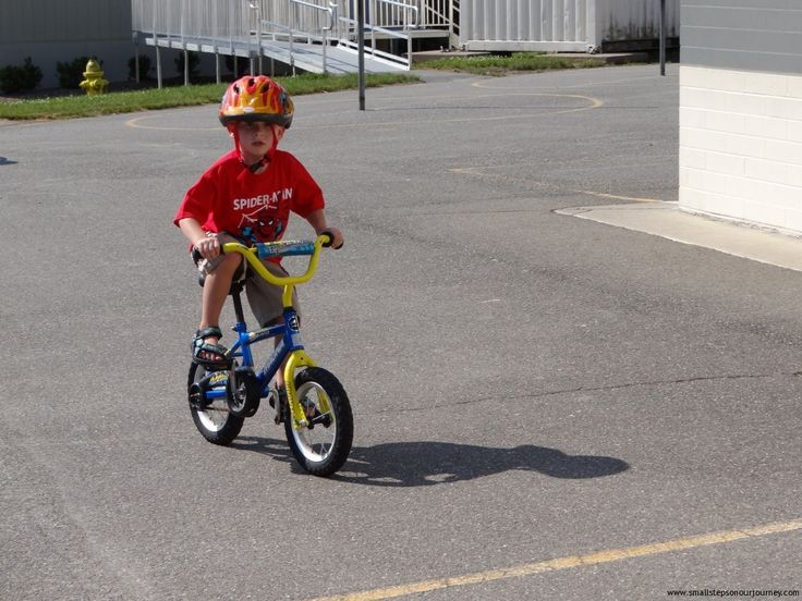 how to teach 7 year old to ride a bike