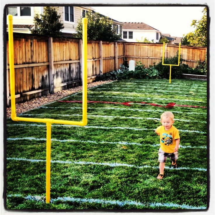 Football Field In My Backyard : My Nephew has Football field for toddlers in the back yard! Its the