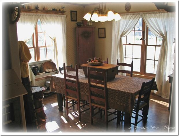 Pin by a primitive place on my home pinterest for Primitive dining room ideas
