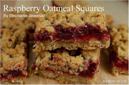 Raspberry Oatmeal Squares | Breakfast | Pinterest