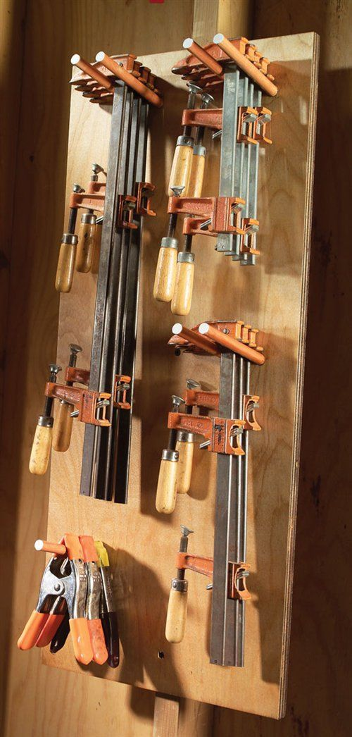 Simple Clamp Storage Ideas For Your Workshop Easy Tool Storage