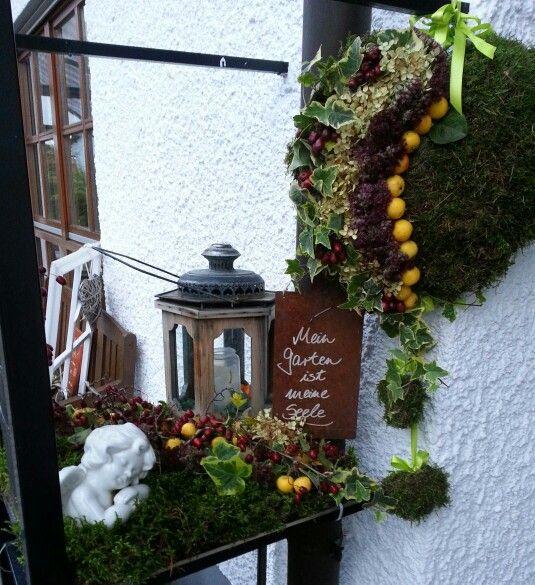 Herbst Deko  Garten Dekoration  Pinterest
