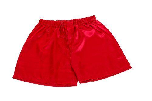 Men's Red Satin Boxers