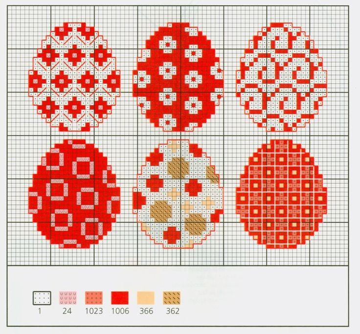 Вышивка крестом пасхальное яйцо схема 95