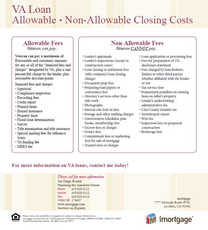 Va Mortgage Fees Allowable