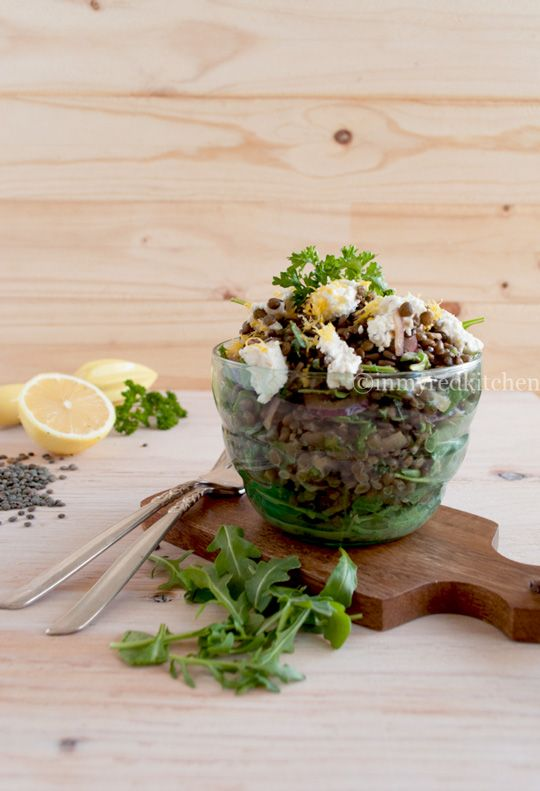 Black lentil salad with goat cheese | Recipe