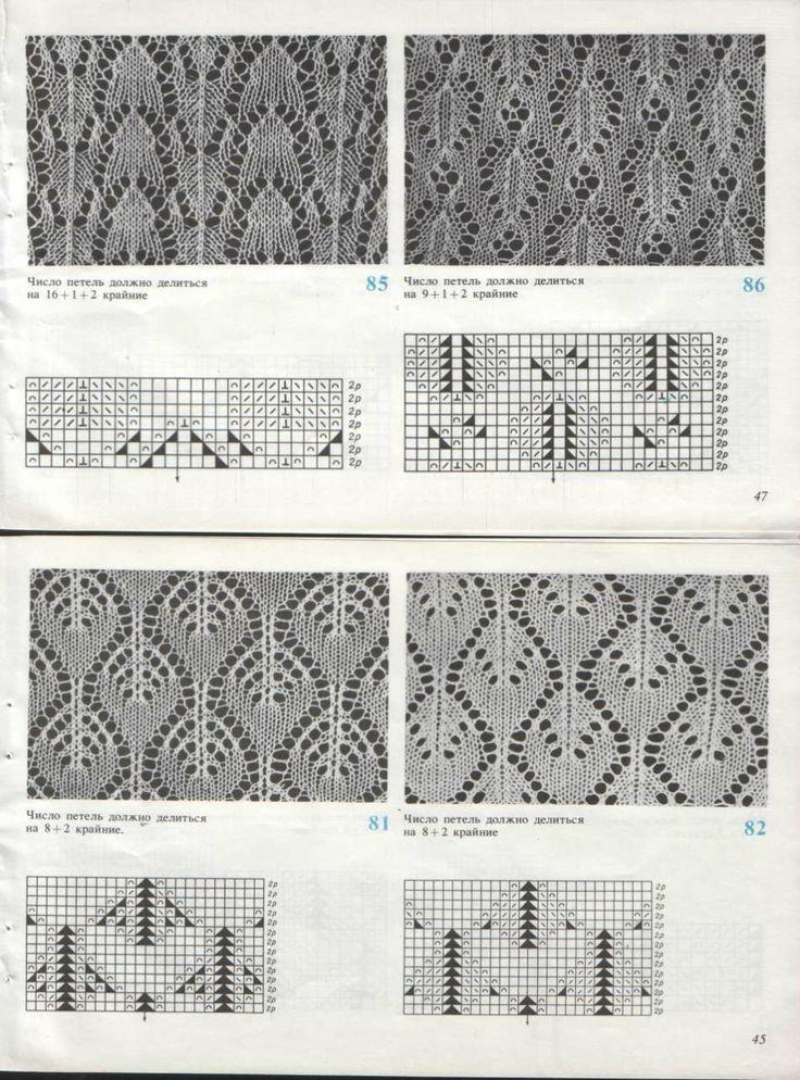 Узоры для ажурного вязания на машине