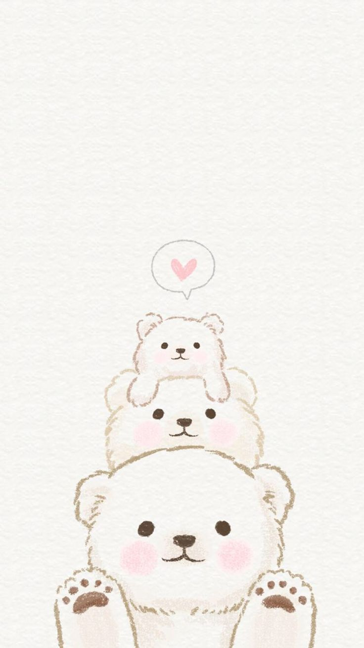 cute bear backgrounds | babangrichie