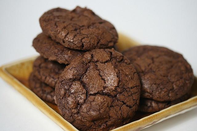 Dark-Chocolate Cookies with Espresso   Cookies   Pinterest