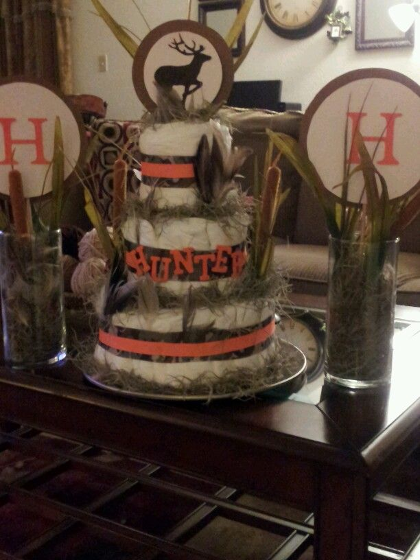 hunting diaper cakes centerpieces diaper cakes pinterest