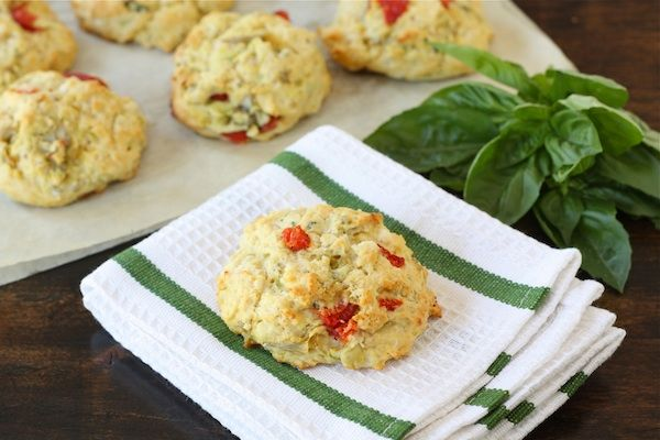 Artichoke, roasted red pepper & feta biscuits by @twopeasandpod #feta ...