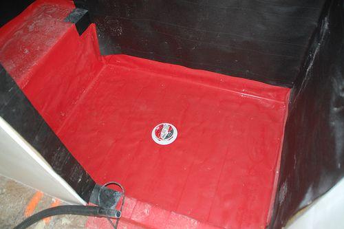 Shower pan liner how to diy pinterest - Shower base liner ...