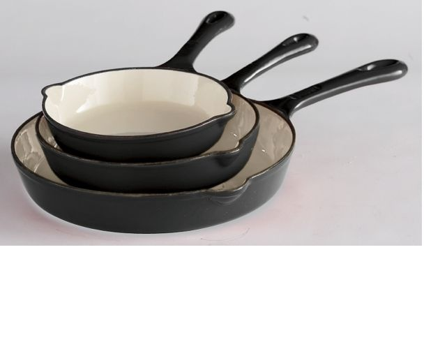 Enameled Cast Iron Skillet | kitchen tools | Pinterest