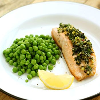 Olive Oil-Poached Salmon with Mint Salsa recipe - Fresh Juice