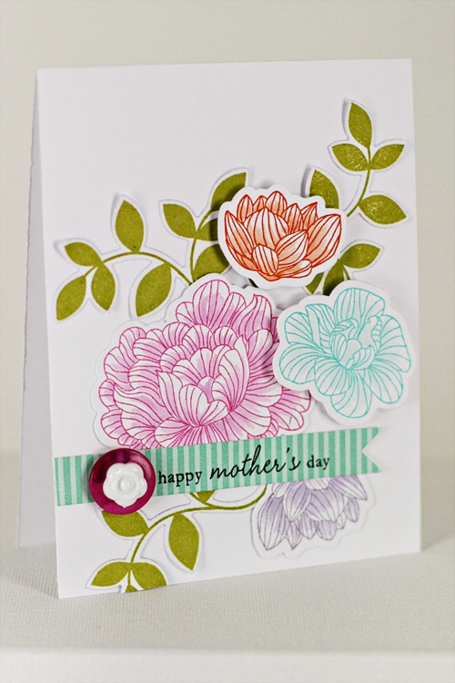 Stamper's First Aid - Mother's Day Card by Erin Lincoln for Papertrey Ink (July 2012)