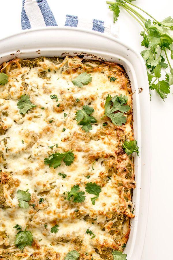 Chicken Salsa Verde Lasagna | Around2Food | Pinterest