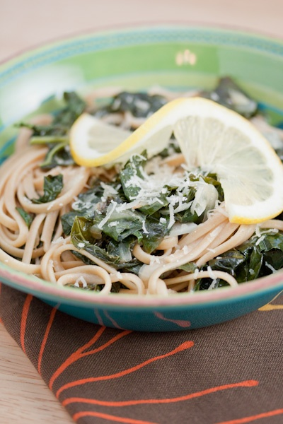 spaghetti with braised kale | recipes | Pinterest