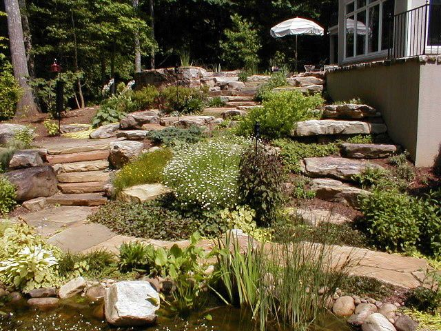 Landscaping Backyard With Slope : landscapes
