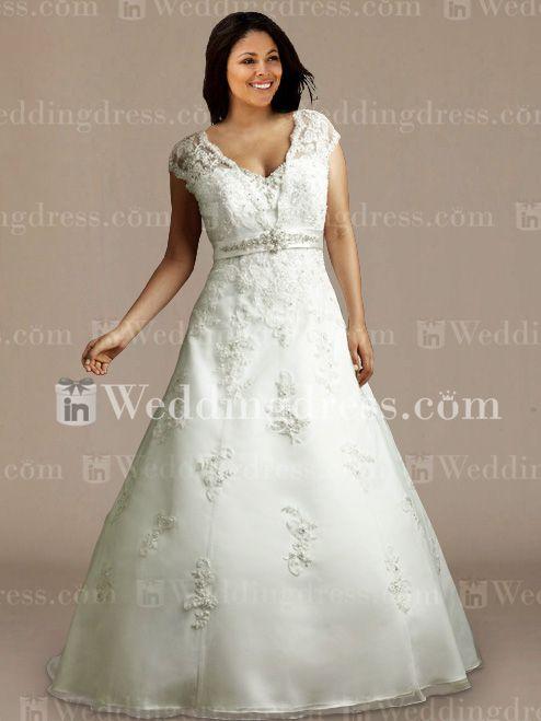 Vintage plus size wedding gowns ps156 for Plus size vintage wedding dresses