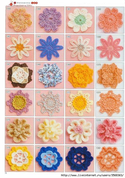 flowers crochet diagrams CROCHET-HOW TO READ CHARTS ...