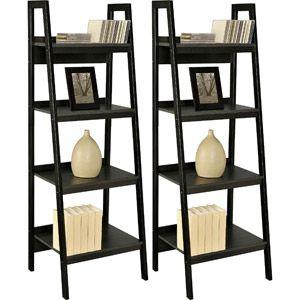 Black Ladder Bookcase, set of two