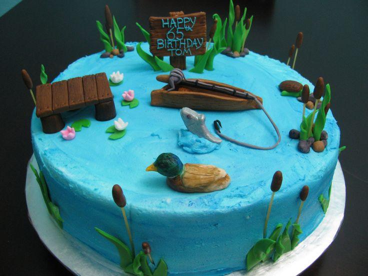 Cake Decorating Gifts Ideas : Pinterest Cake Decorating Ideas Fishing 30750 Fishing Cake