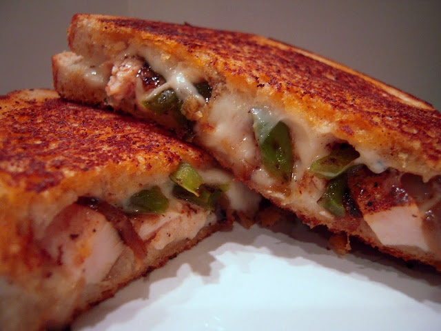 Chicken Quesadilla Grilled Cheese Grilled chicken with onions, peppers ...
