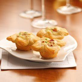 Crescent Bacon-Cheese Tartlets Recipe | Recipes | Pinterest