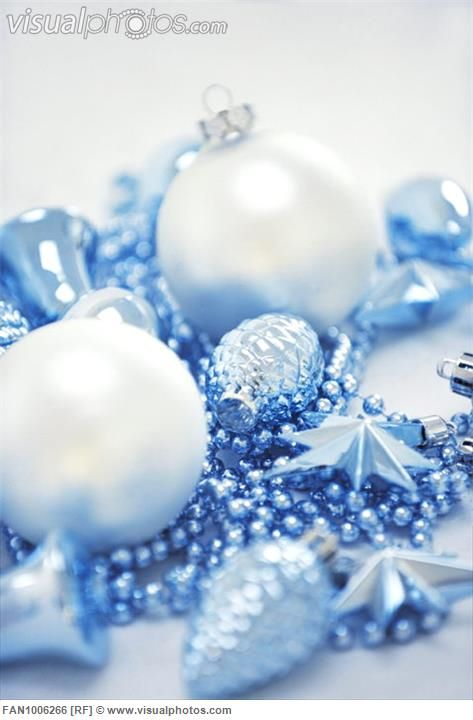 Blue-and-white Christmas decor   Blue and white Christmas   Pinterest