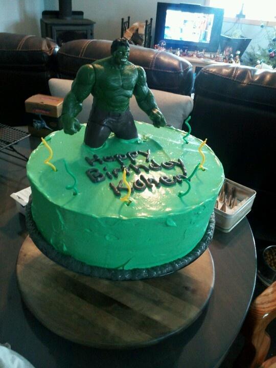 Incredible hulk cake Cake decorating Pinterest