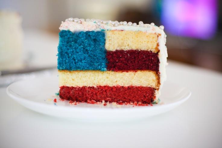 american flag cake | 'Murica | Pinterest