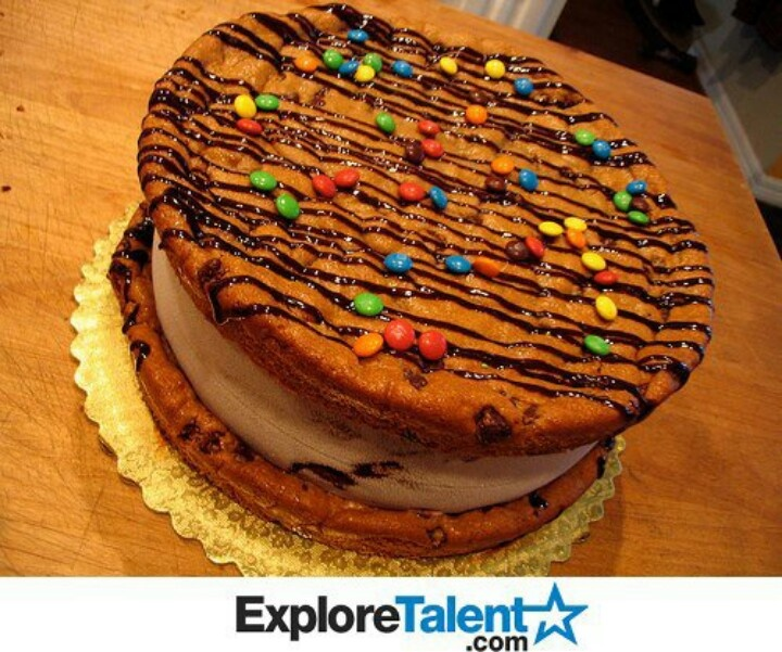 Giant cookie and ice cream sandwich! | Yummy Treats | Pinterest